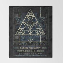 Sacred Geometry for your daily life - METATRON MATRIX Throw Blanket