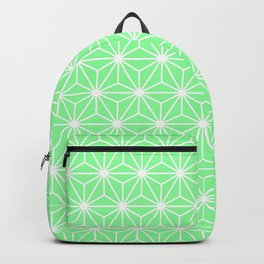 Pastel Green Flowers and Florals Isosceles Triangle Backpack