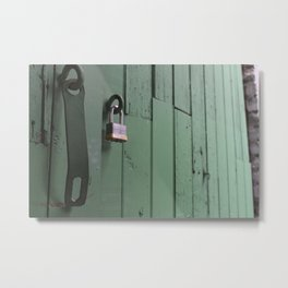 Unlocked Door Metal Print