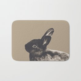 Little Rabbit on Sepia #1 #decor #art #society6 Bath Mat