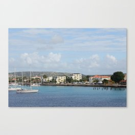Bonaire Kralendijk Harbor Sailing Boats Canvas Print