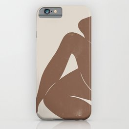 Abstract Nude, Body Illustration iPhone Case
