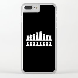Chess Collectible – Figures' Line-up (Globally Local Media) Clear iPhone Case