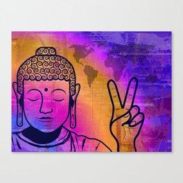 Buddha World Peace Canvas Print