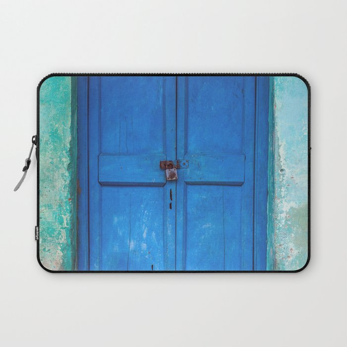 Blue Indian Door Laptop Sleeve
