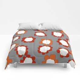 Daisies on Putty pattern Comforters