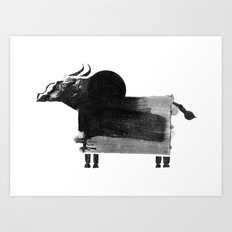clumsy cow Art Print
