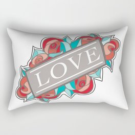Love & Roses Rectangular Pillow