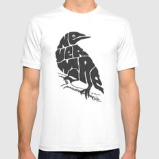 Quoth the raven Mens Fitted Tee MEDIUM White