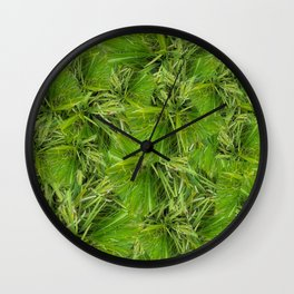 Grass pattern - version two Wall Clock