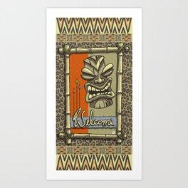 WELCOME TIKI Art Print