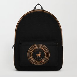 Save the Drama For Yo' Llama (Copper on Black) Backpack