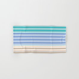 Cool Summer Stripes Hand & Bath Towel