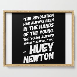 The Revolution of The Young - Huey Newton Serving Tray