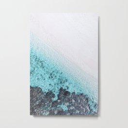BEACH & WAVES Metal Print