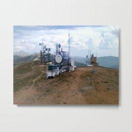 The Antenna Farm Atop Monarch Ridge, at 12,013 feet Metal Print