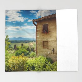 San Gimignano, Tuscany, Italy Throw Blanket