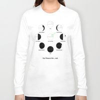 moon phases Long Sleeve T-shirts featuring That's No Moon Phases by geekchic
