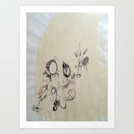 coffee and ink Art Print