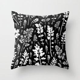 plenty of plants in the dark Throw Pillow