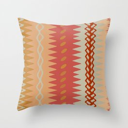 Assorted Zigzags And Waves Sienna Peach Grey Throw Pillow