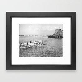 Long Beach Surfers 1930s Framed Art Print