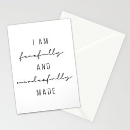 I Am Fearfully and Wonderfully Made Stationery Cards