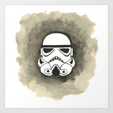 Storm Trooper Watercolor Art Print