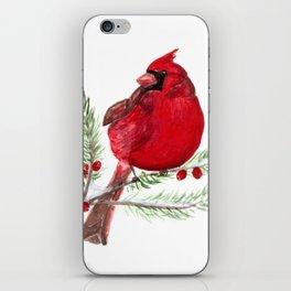 Cardinal Christmas Art iPhone Skin