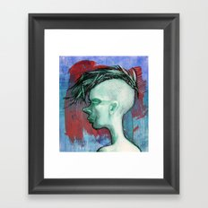 Green Framed Art Print