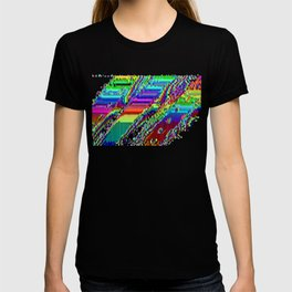 Equatorial Rainbow (Glitch Art / Pixel) T-shirt