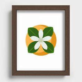 Orange Blossom Recessed Framed Print