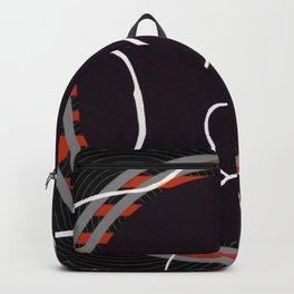 Lined - orange circle Backpack