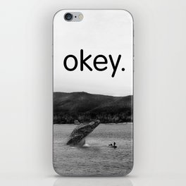 Whales in the Volga River iPhone Skin