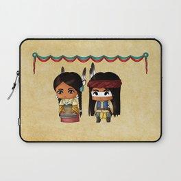 American Indian Chibis Laptop Sleeve