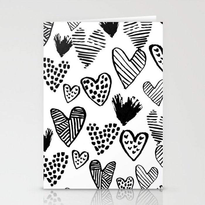 Love Card Black /& Whire
