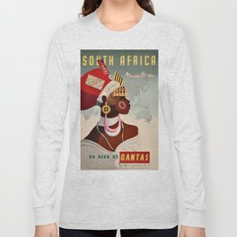 South Africa, Qantas - Vintage  Poster Long Sleeve T-shirt
