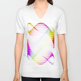 abstract colorful tamplate Unisex V-Neck