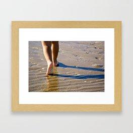 Little Feet on the Shore Framed Art Print