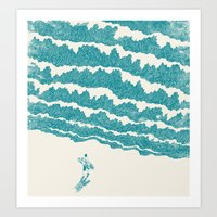 ilovedoodle Art Prints featuring To the sea by I Love Doodle