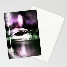 Moon night on the lake 2 Stationery Cards