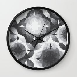Achromatic Diamonds Wall Clock