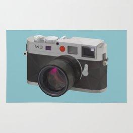 Leica M9 Camera polygon art Rug