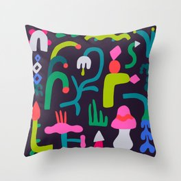 I Dream in Plants Throw Pillow