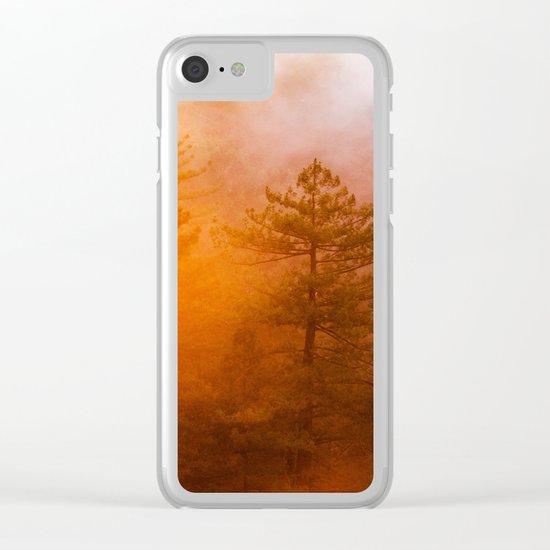Sunrise Hug Clear iPhone Case