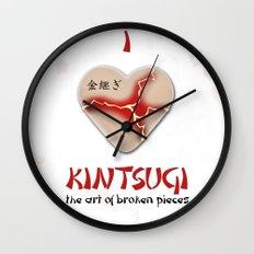 i love kintsugi Wall Clock