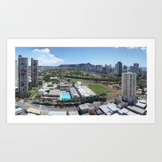 Honolulu View Art Print