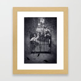 Hansel and Gretel and the Witch's House Framed Art Print