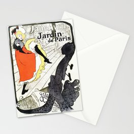 Jane Avril French can-can Jardin de Paris Stationery Cards