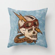 Old Timey Tattoo Design Throw Pillow